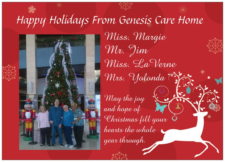 Merry Christmas From Genesis Care Home